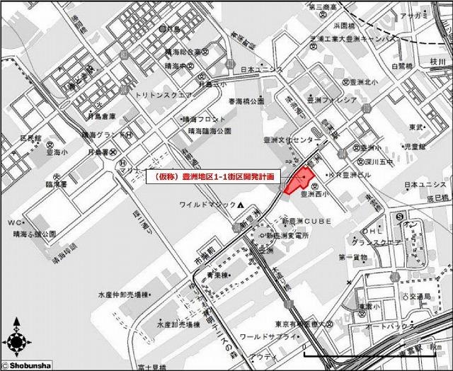 豊洲5丁目計画地図