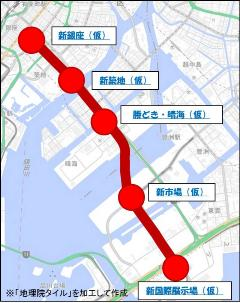 臨海地下鉄の駅位置
